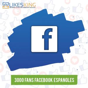 3000 Fans Facebook Espanoles