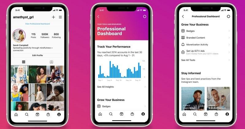 Nuevas funcionalidades de Instagram en 2021: Panel de Control Profesional
