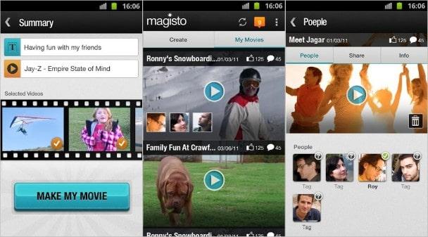 Aplicaciones para editar videos gratis: Magisto