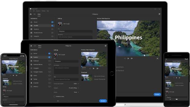 Adobe Premier Rush para edición de videos